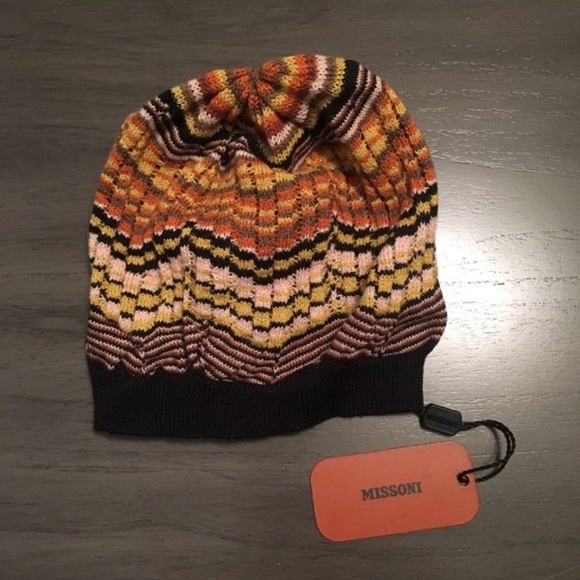 d1beb6a1f30 NWT Missoni Wool Blend Beanie Knit Hat